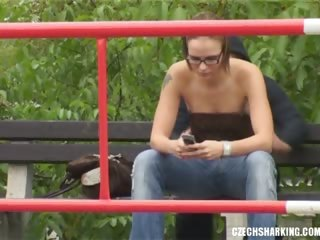 Glasses Outdoor Public Teen Voyeur