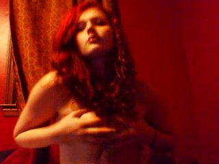 19 Year Old Red Head Fondles Her Bresticles