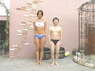 Asian Woman  And Little Man