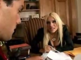 Smoking Hot Blonde Busty Boss Fucked On The Desk