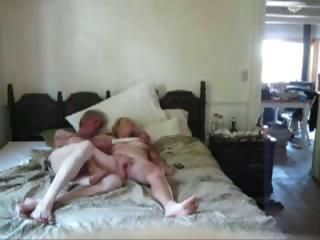 Mature couple filming him giv...
