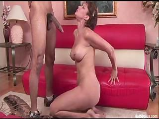 Big cock Blowjob Deepthroat Interracial MILF
