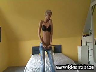 Amateur European German Jeans Stripper Teen