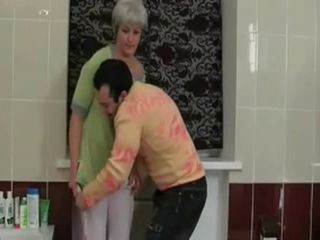 Bathroom Mature Mom Old and Young Russian