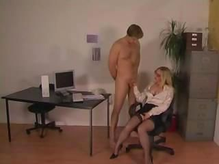 Domme gets her secreatary to ...