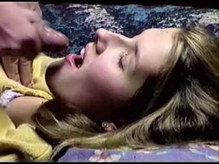 Pretty blonde gets facial (si...