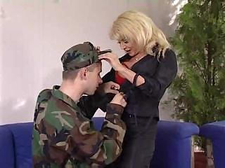 Army MILF Mom Old and Young Pornstar