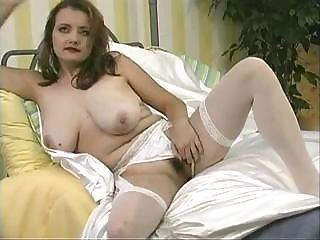 Busty bride gets undressed an...