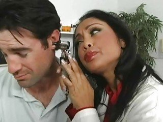 Lusty and busty Asian doctor nailed by her patient