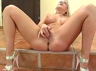 Sexy MILF fucks herself hard with huge glass dildo _: Orgasm