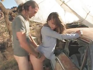 Car Clothed Doggystyle Farm Outdoor Teen