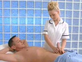 Babe Blonde Cute Handjob Nurse Uniform