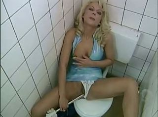 Bathroom European Insertion MILF Toilet