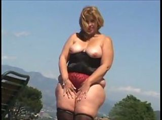 Chubby Lingerie Mature Outdoor