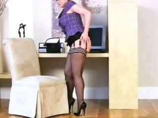 Legs Mature Secretary Stockings