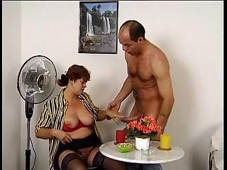 Big white mommy shows what her little wet pussy is made for