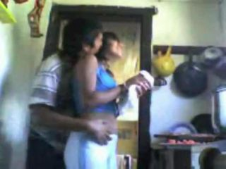 Horny boyfriend fuckes her girl in the kitchen from behind