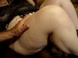 BBW fingered and rubbing her smooth wet pussy