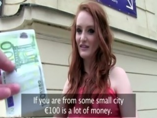 Amateur Cash Outdoor Pov Public Redhead Teen