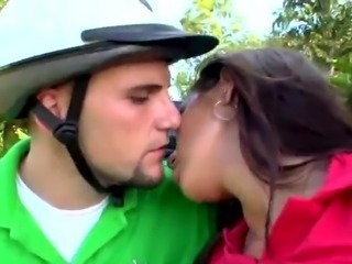 Dirty Cynthia Bang and her spanish girlfriend make love the boy