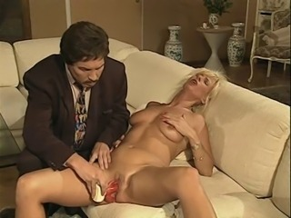 Blonde European German MILF Orgasm SaggyTits Toy
