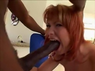 Babe Big cock Blowjob Deepthroat Hardcore Interracial