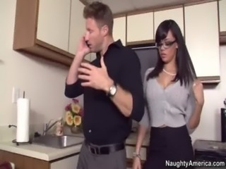busty Lawyer rides clients cock in her office free