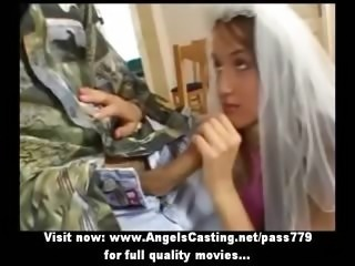 Bride Clothed Handjob Teen