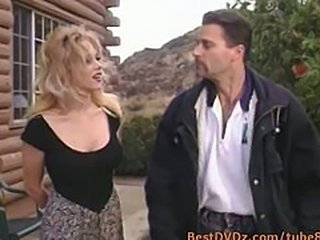 Busty girl gets hammered at outdoor