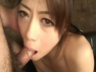 Lovely Asian Hojo Maki got her pussy played with some pervert guy's playful...