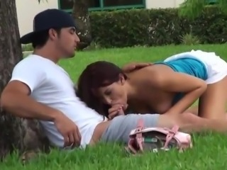 Blowjob Clothed Girlfriend Outdoor Public Voyeur