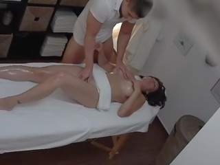 Massage Oiled Teen Voyeur