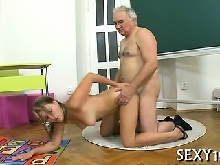 Daddy Daughter Doggystyle Old and Young Teacher Teen