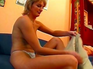 German Chick In Pantyhose Gives...