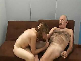 Blowjob Daddy Daughter Old and Young Small cock Teen