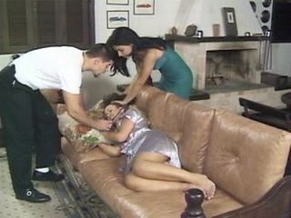 Brazilian Latina Sleeping Teen Threesome