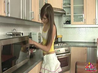 Kitchen Long hair Skirt Teen