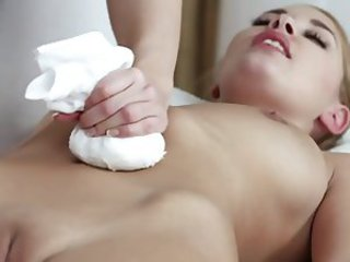 Close up Massage Shaved Teen