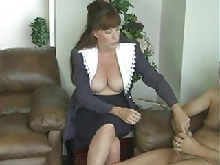 jerk instruction:mature lady gives instr.for 2 (one are you)
