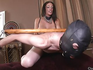Mistress in boots pounding guys ass