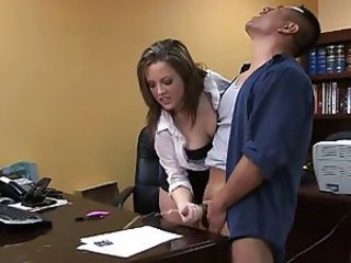 Cumshot Handjob MILF Office Secretary