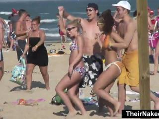 Beach Bikini Outdoor Party Public Teen