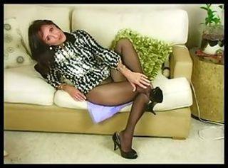 Great Mature Pantyhose Solo Action