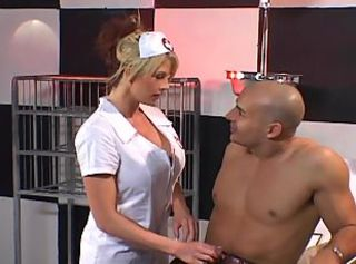 Big boobs nurse Brooke sucks patient cock getting her pussy and anu...