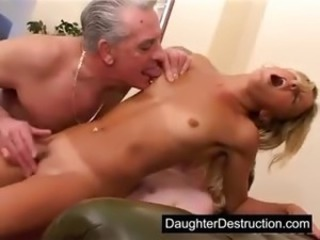 Daddy Daughter Old and Young Orgasm Small Tits Teen