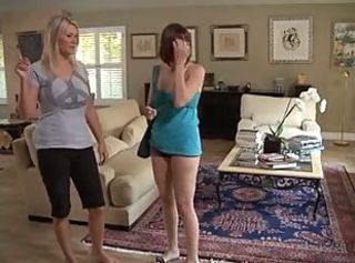 Hot lesbian lickers Dana DeArmond and Juliana Jolene