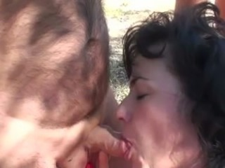 Amateur Blowjob Mature Older Outdoor Small cock