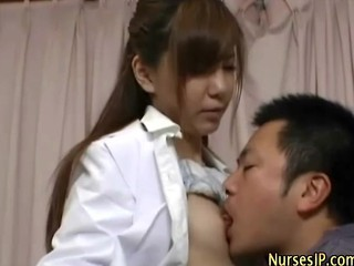 Japanese Sexy Nurse Gets Eaten Out