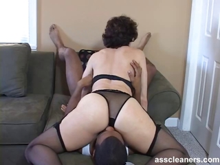 Oldie Mistress Is Horny While Having Her Ass Hole Licked