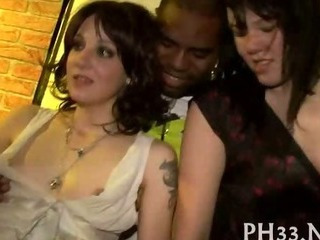 Interracial Party Teen